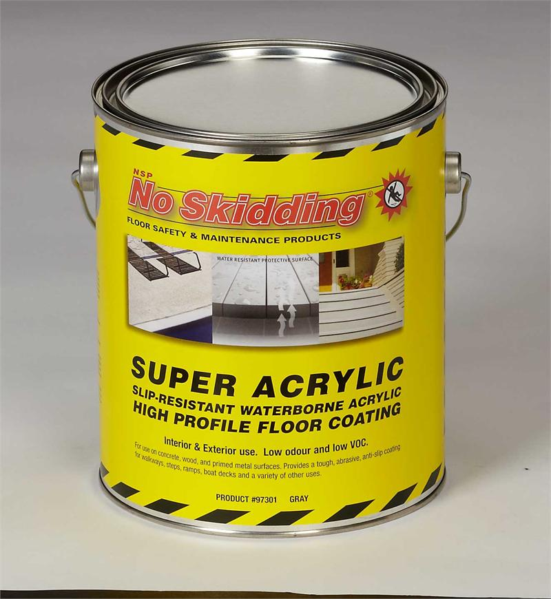 Super acrylic slip resistant coating no skidding products for No skid paint