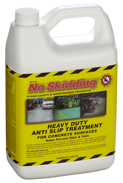 Anti slip treatment for concrete floors clear water based for How to clean unsealed concrete floors
