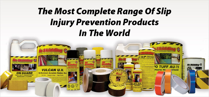 The Most Complete Range of Slip Injury Prevention Products in the World